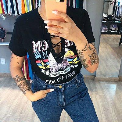 T-shirt cadarço FREEDOM