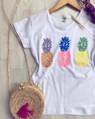 T-shirt ABACAXI NEON
