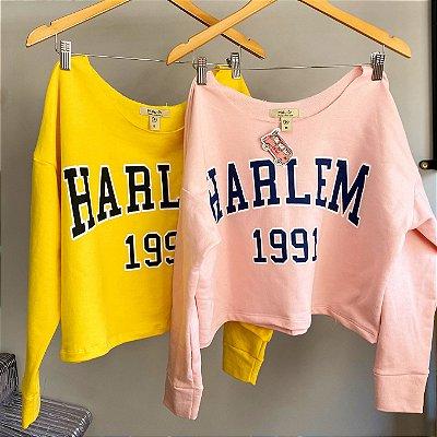 Blusa Moletom cropped HARLEM