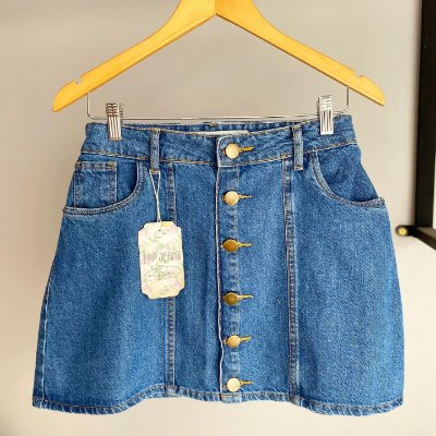 Saia jeans BOTÕES RETRÔ