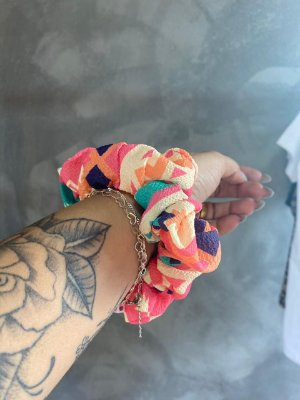SCRUNCHIES ETNICO PINK