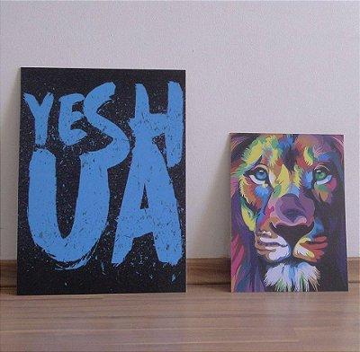 Yeshua + leão colorido moderno (Kit 01)