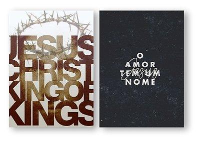 Jesus Christ + O amor Tem um Nome - Tela Canvas
