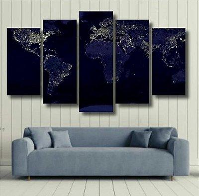 Mapa Mundi - 5 Canvas