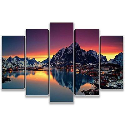 Montanhas - 5 Telas Canvas