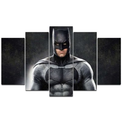 Batman - Quadro Mosaico 5 telas em Canvas