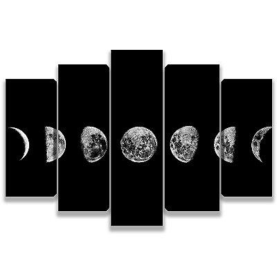 Fases da Lua - 5 Telas Canvas