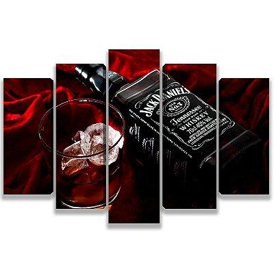 Jack Daniels - 5 Telas Canvas