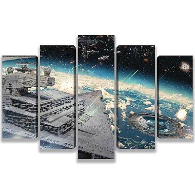Star Wars - Quadro Mosaico 5 telas em Canvas