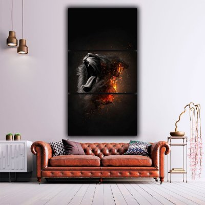 Lion Fogo - 3 Canvas
