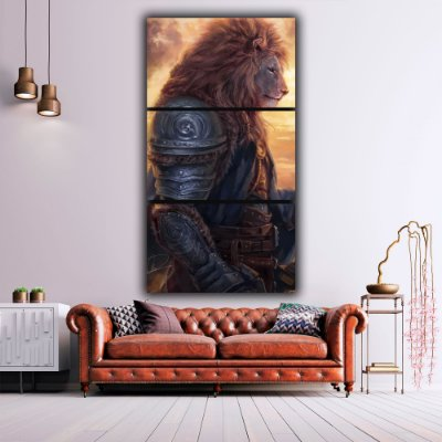 Brave lion - 3 Canvas