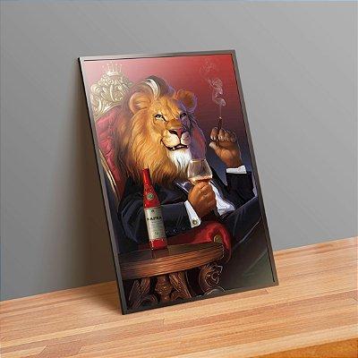 Lion the boss - Emoldurado