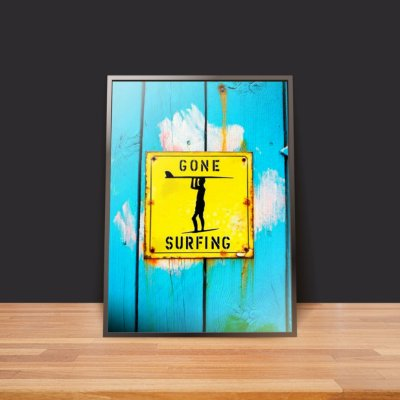 Gone surfing - Emoldurado