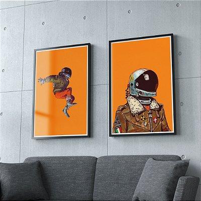 Astronauta - KIT 2 QUADROS