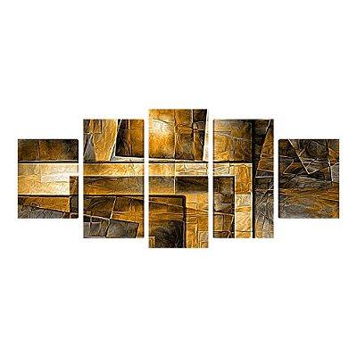 Abstrato - Quadro Mosaico 5 telas em Canvas
