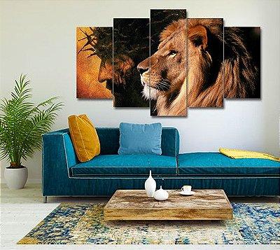 Mosaico Jesus e Leão - 100x60cm