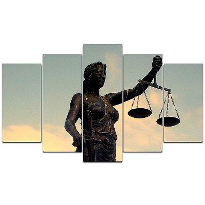 Balança Direito -  Quadro Mosaico 5 telas em Canvas
