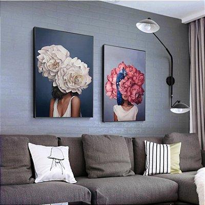 Floral Arte Corpos - 2 Quadros