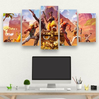 FORTNITE - 5 Telas Canvas