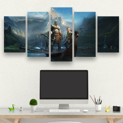 GOD OF WAR - 5 Telas Canvas