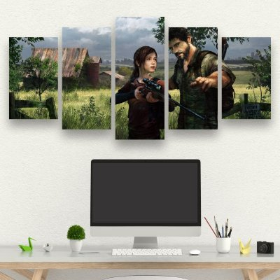 The Last Of Us - Quadro Mosaico 5 telas em Canvas