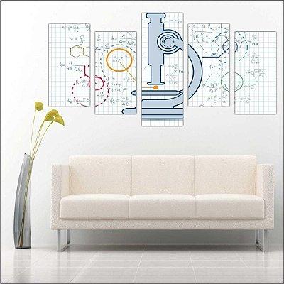 Biologia - Quadro Mosaico 5 telas em Canvas