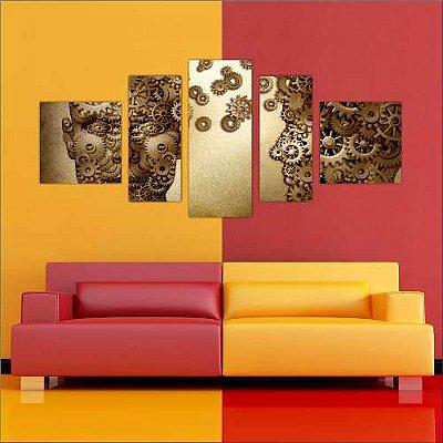 PSICOLOGIA - Quadro Mosaico 5 Telas em Canvas