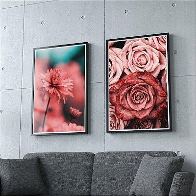 Floral - 2 Quadros