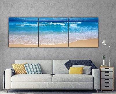 O Mar - 3 telas Canvas
