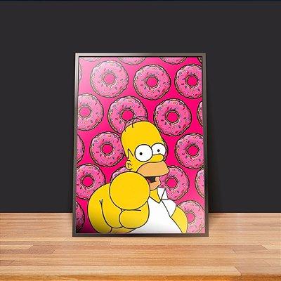 Homer e donuts - Emoldurado
