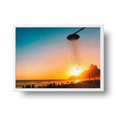 Banho de sol - Emoldurado