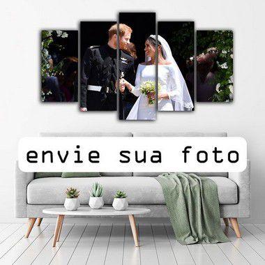 ENVIE SUA FOTO - Mosaico 5 peças