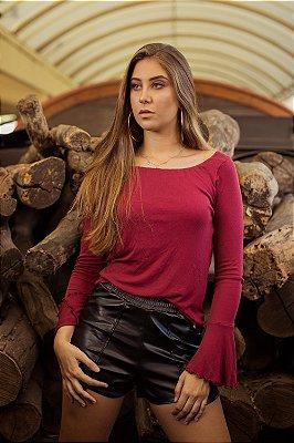 Short couro Fernanda