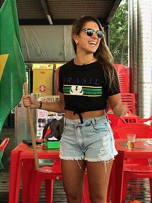 t-shirt nó Brasil Surreal preta
