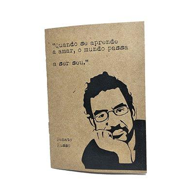 Caderno Artesanal Capa Kraft Renato Russo