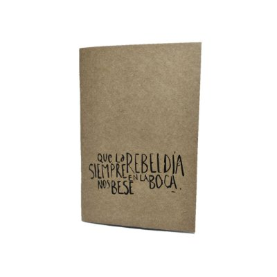 Caderno Artesanal Capa Kraft Rebeldia