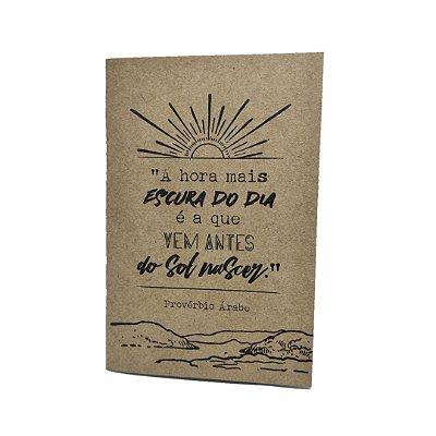 Caderno Artesanal Capa Kraft Provérbio