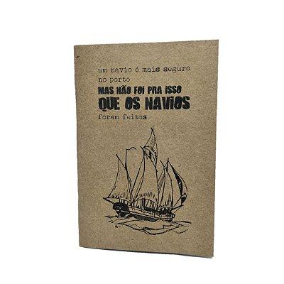Caderno Artesanal Capa Navio