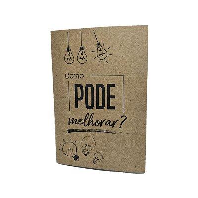 Caderno Artesanal Capa Idéias