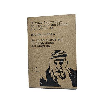 Caderno Artesanal Capa Paul Singer