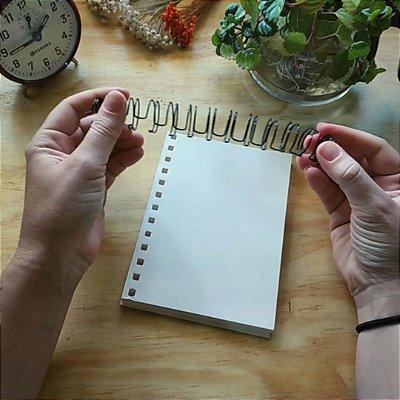 Miolo ou Refil para Caderno Artesanal Capa de tecido