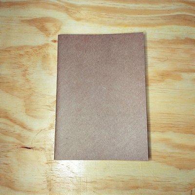 Caderno Artesanal sem arte na capa
