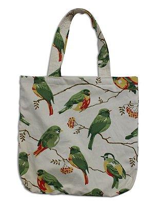 ECOBAG - Estampa Pássaros Verde
