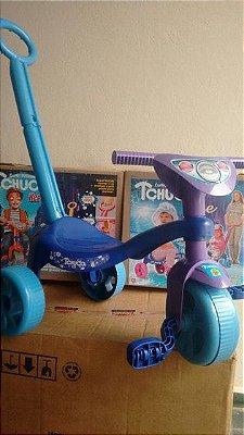 Triciclo Tchuco Ice Roxo Com Haste