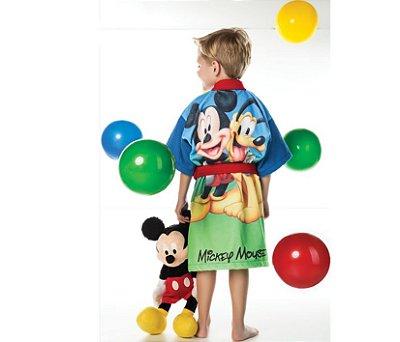 Roupao Aveludado Infantil Quimono Transfer Bordado Mickey G Com 1 Peça