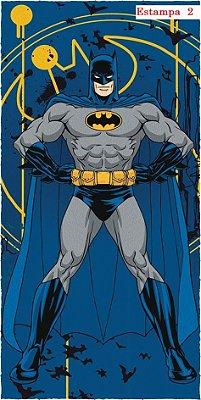 Toalha Felpuda De Banho Batman 60 cm X 1,20 m