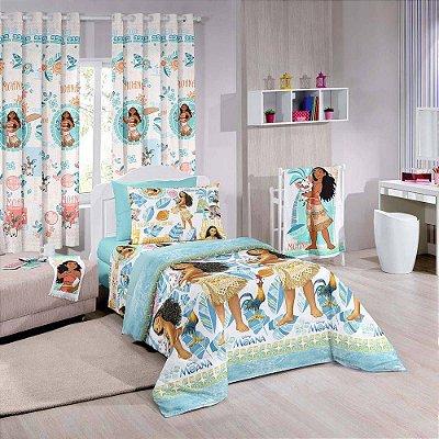 Jogo de Cama Solteiro Infantil Disney Moana - Santista Azul