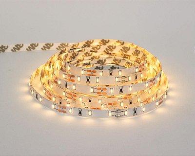 Fita LED 12v 4,8W/m - Rolo 5 metros - IP20 sem silicone - Branco Quente 3000k - Cristallux