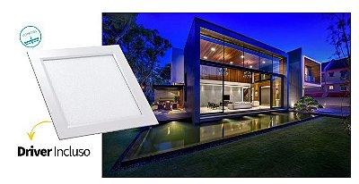 Luminária Painel Slim Embutir 18W LED QUADRADO Bivolt CRISTALLUX