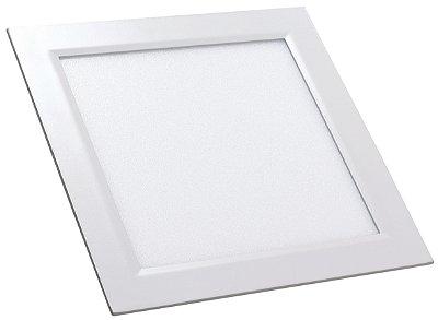 Luminária Painel Slim Embutir 24W LED QUADRADO Bivolt CRISTALLUX